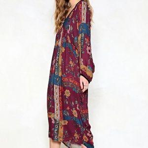 Nasty Gal Woodstock Midi Dress